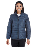 NE701W Ash City - North End Ladies' Portal Interactive Printed Packable Puffer