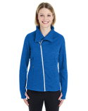 NE704W Ash City - North End Ladies' Amplify Melange Fleece Jacket