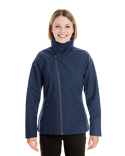 NE705W Ash City - North End Ladies' Edge Soft Shell Jacket with Fold-Down Collar